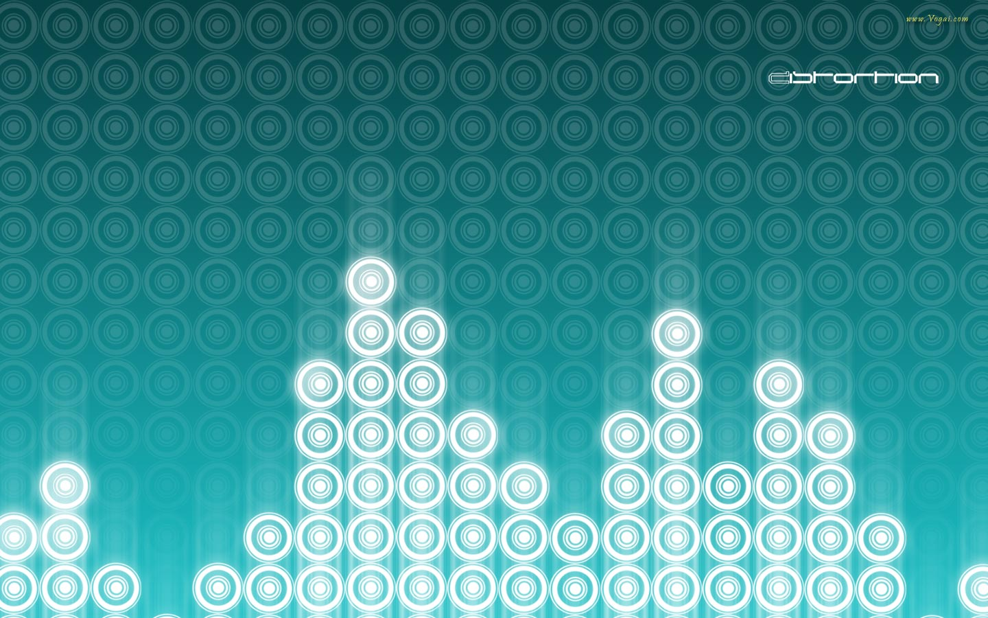 Teal background theme. This circle equalizer wallpaper has widescreen